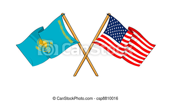 America and Kazakhstan alliance and friendship - csp8810016