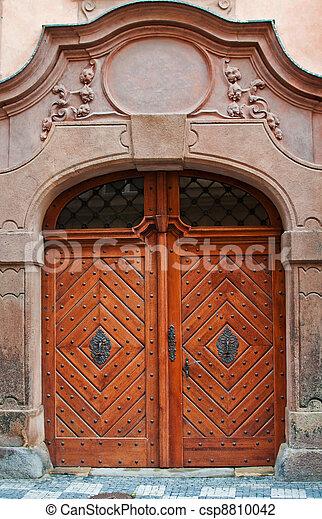 Massive wooden door - csp8810042