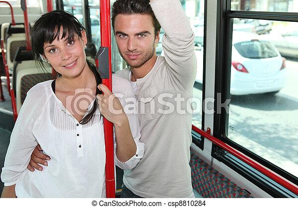 Couple on a bus - csp8810284