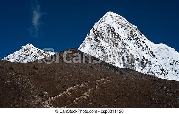 Pumo ri Kala Patthar summit in Himalayas - csp8811128