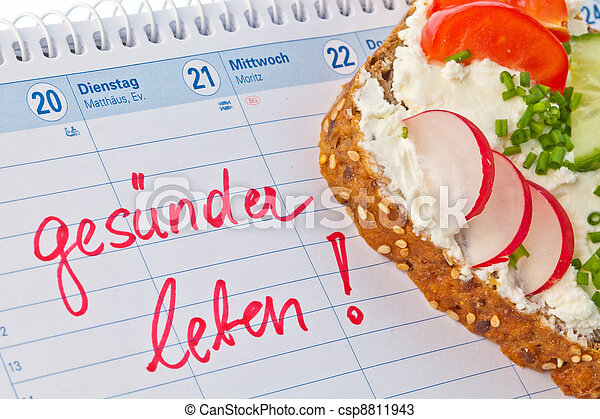 a bread with cottage cheese and cheese spread with vegetables and healthy eating. - csp8811943