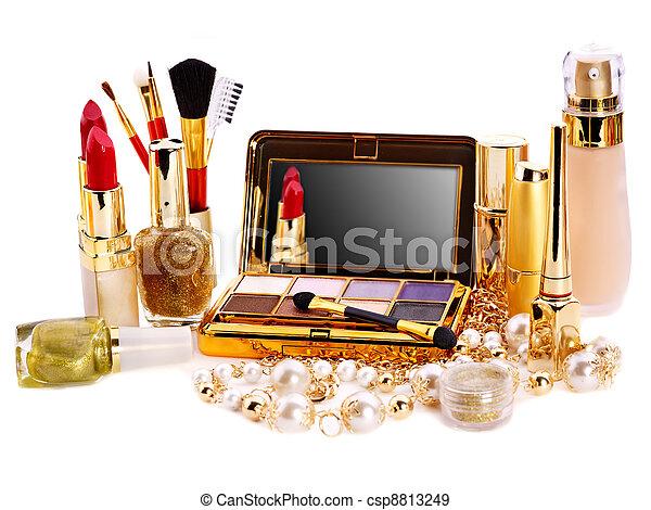 Decorative cosmetics for makeup. - csp8813249
