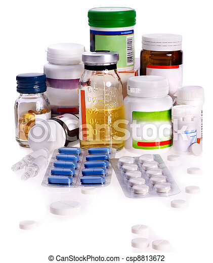 Blister pack of pills. Remedy. - csp8813672