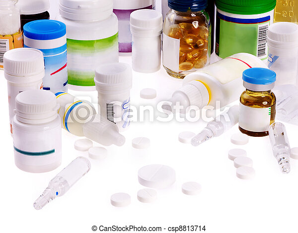 Blister pack of pills. Remedy. - csp8813714