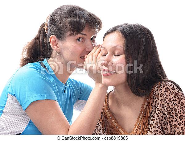 Women gossiping. - csp8813865