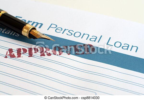 Loan form - csp8814030