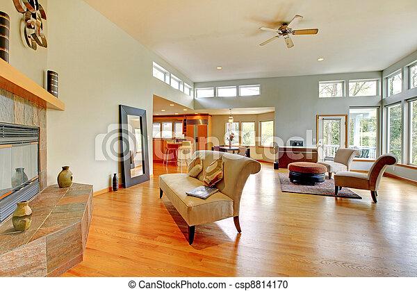 Fantastic modern living room home interior. - csp8814170