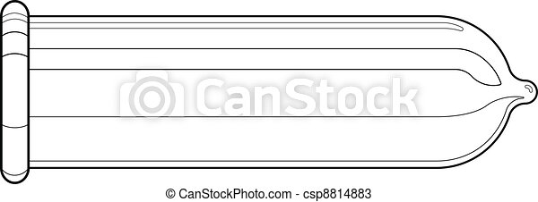 Condom (technical drawing) - csp8814883