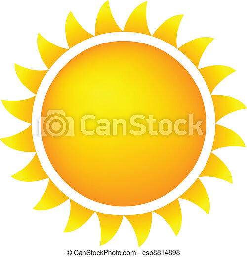 Vector of Weather Icon Sun - Sun Icon With Flames, Color, Gradient ...