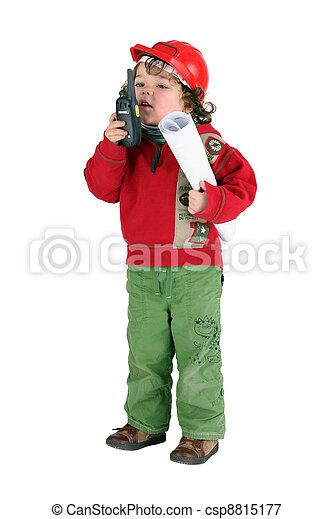 Little boy foreman - csp8815177