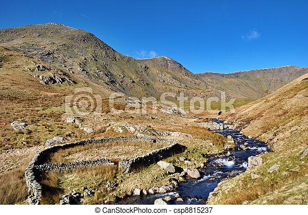 River Kent, Kentmere, English Lake District. - csp8815237