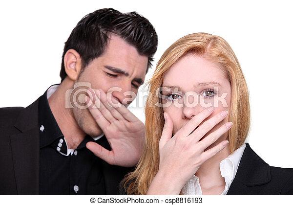 Couple yawning - csp8816193