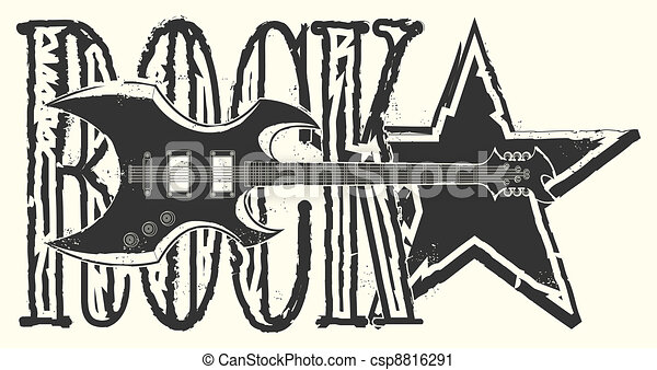 Sticker on the shirt Rock Star - csp8816291