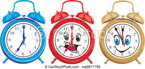 Ringing Alarm Clocks - Royalty Free Vector Image - csp8817189
