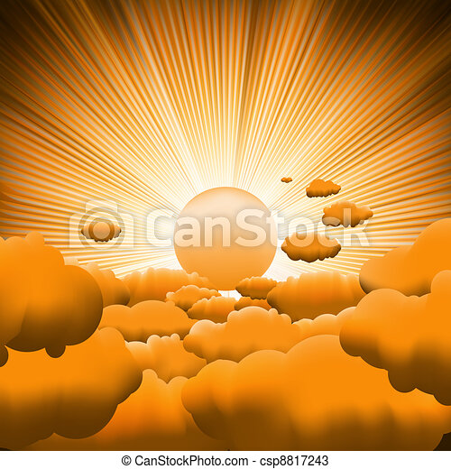 Sunburst backgrouns template design. EPS 8 - csp8817243