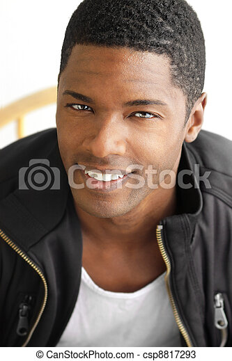 Smiling black man - csp8817293