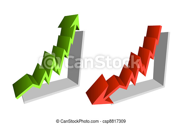 Up down finance chart arrows - csp8817309
