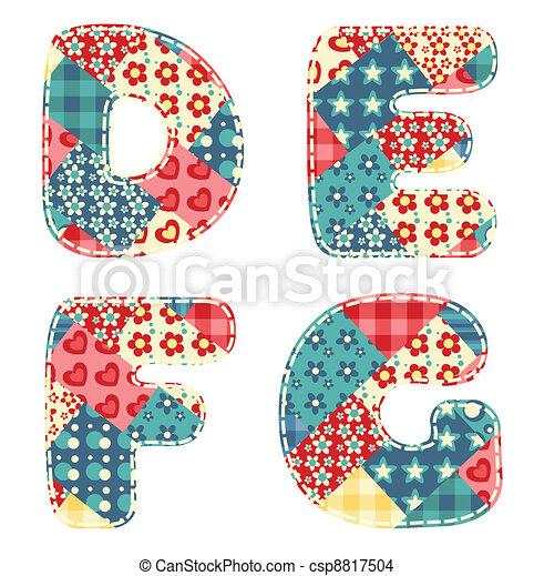 Quilt alphabet. - csp8817504