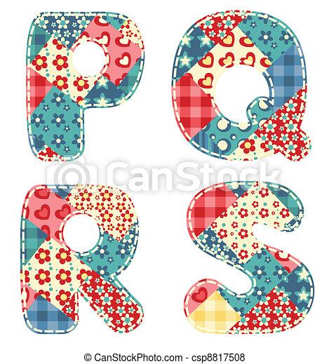 Quilt alphabet. - csp8817508
