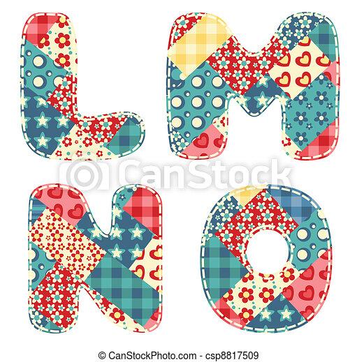 Quilt alphabet. - csp8817509