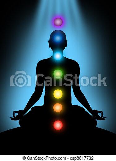 meditation, chakras - csp8817732