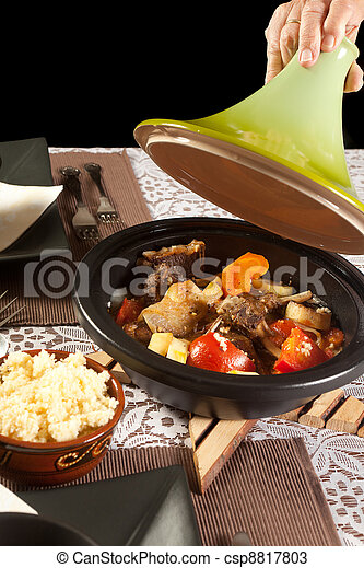 Delicious moroccan tajine - csp8817803