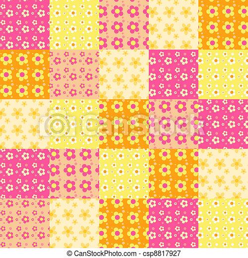Seamless patchwork pattern 3. - csp8817927