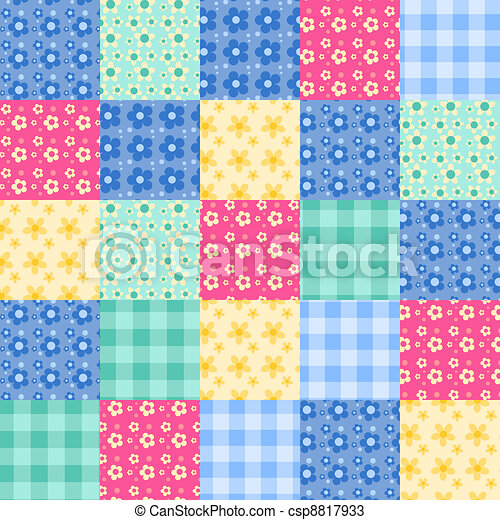 Seamless patchwork pattern 4. - csp8817933