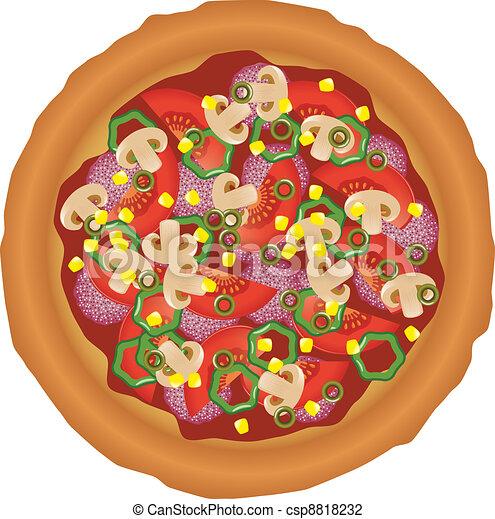 tasty pizza - csp8818232