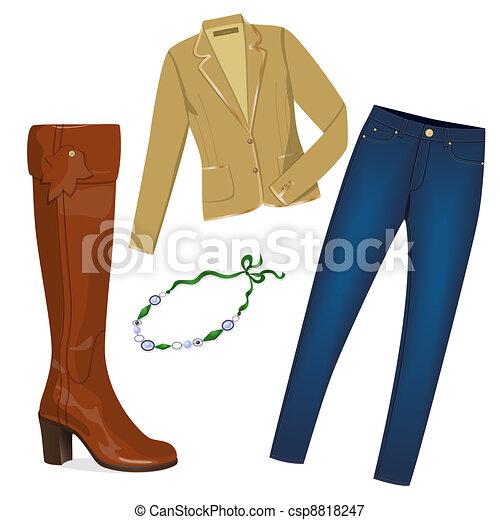 Stylish woman clothes - csp8818247
