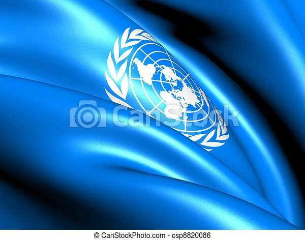 Flag of United Nations - csp8820086