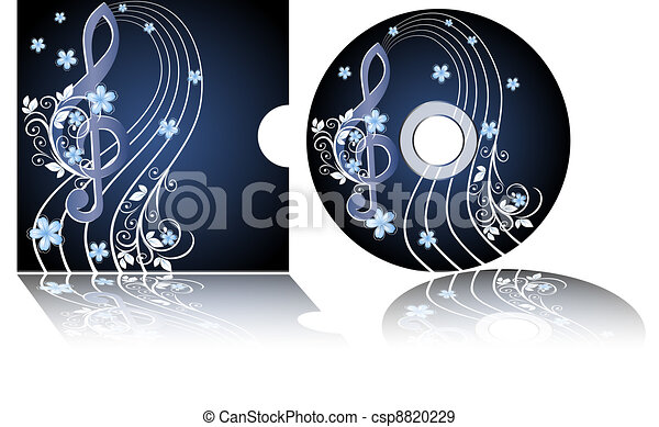 CD label with the treble clef - csp8820229