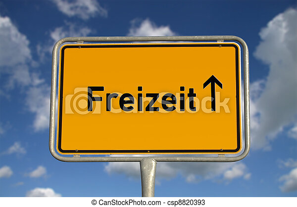 German road sign Leisure - csp8820393