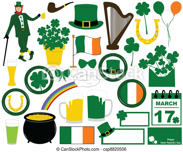 Illustration of Saint Patrick's Day - csp8820506