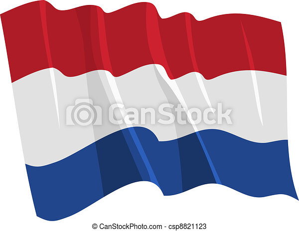 waving flag of Netherlands - csp8821123