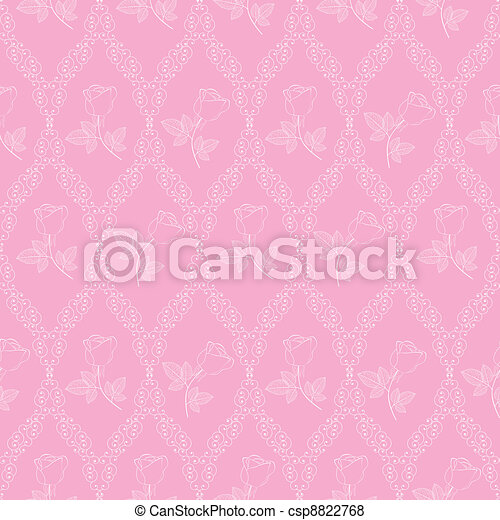 seamless abstract pink orient pattern - csp8822768