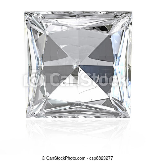 Princess cut diamond - csp8823277