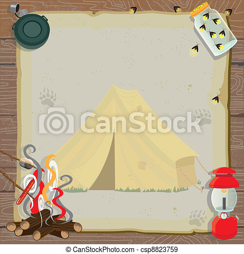 Rustic Camping Party Invitation - csp8823759