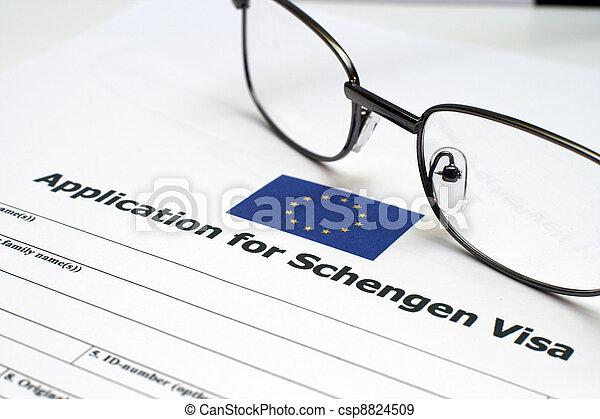 Application for Schengen visa - csp8824509