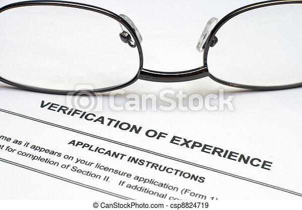 Verification of experience - csp8824719