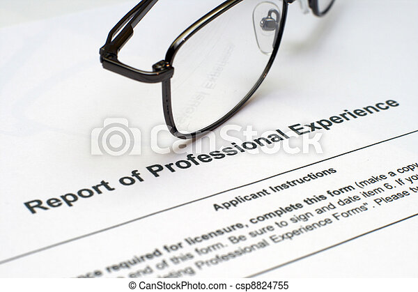 Professional experience form - csp8824755