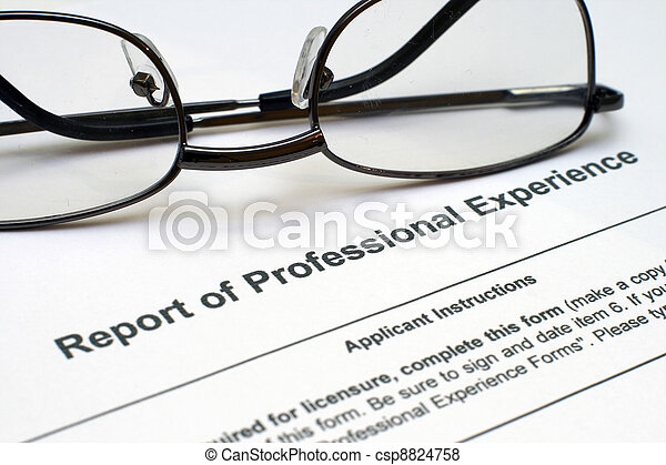 Professional experience form - csp8824758