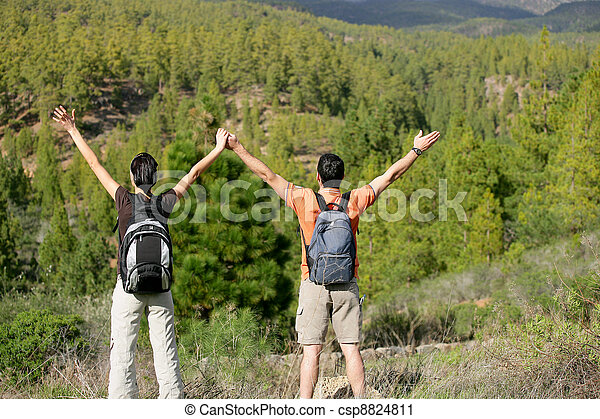 Hikers appreciating the view - csp8824811