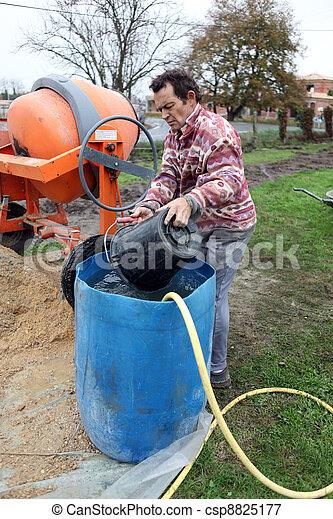 Im genes de mezclar cemento hombre hombre mezclar - Como mezclar cemento ...