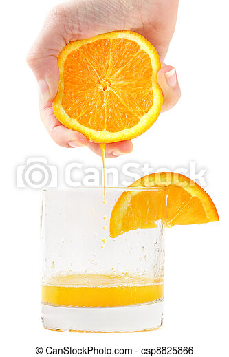 Fresh squeezed orange juice - csp8825866