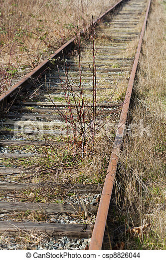Abandoned Railroad Track  - csp8826044