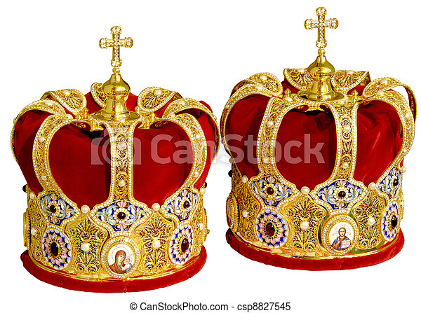 Stock Images of Two Orthodox Wedding Crowns - Two Orthodox Wedding ...