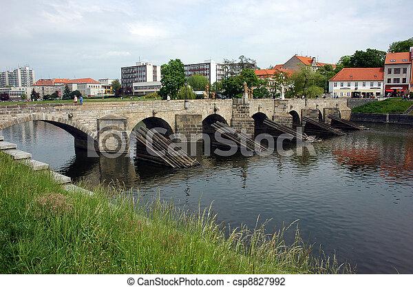 Bridge in Pisek - csp8827992