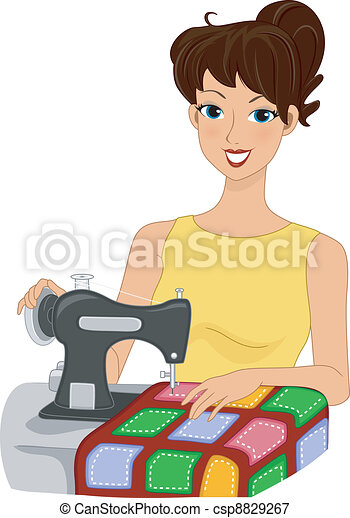 Quilting Girl - csp8829267
