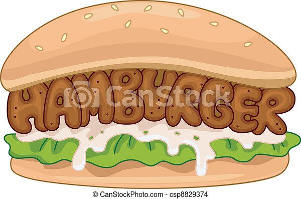 Hamburger - csp8829374